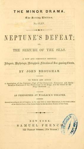 Neptune's defeat by John Brougham