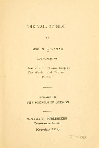 The vail of mist by McNamar, Myrtle Mrs