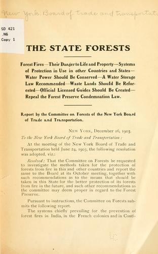 The state forests by New York. Board of trade
