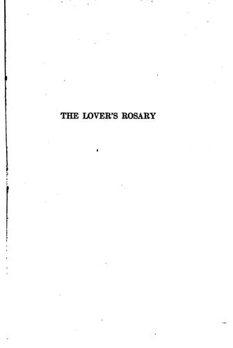 The lover's rosary by More, Brookes