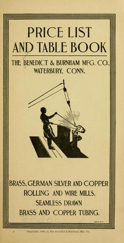 Price list and table book by Benedict & Burnham mfg. co., Waterbury, Conn