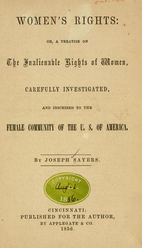 Woman's rights by Joseph Sayers