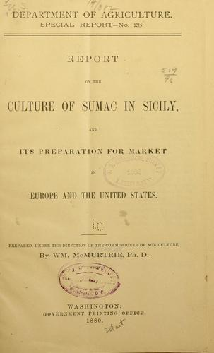 Report on the culture of sumac in Sicily by William McMurtrie