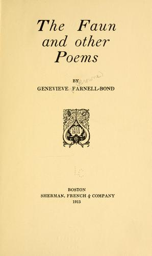 The faun by Genevieve (Browne) Farnell