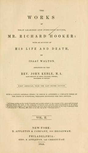 Ecclesiastical polity by Hooker, Richard